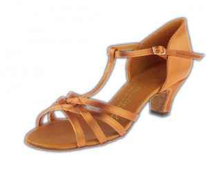 Melissa TBar Junior - Tan Satin