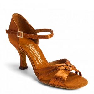 Laura Extra Wide - Tan Satin